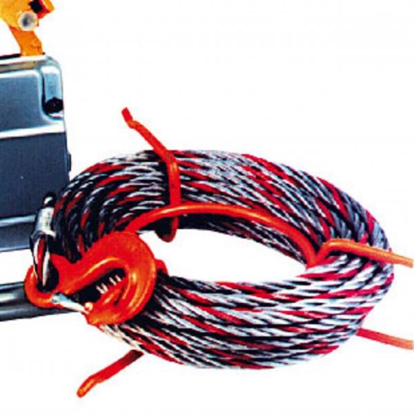 Greifzug-Seil - 11 mm Ø - mit Haken und Spitze