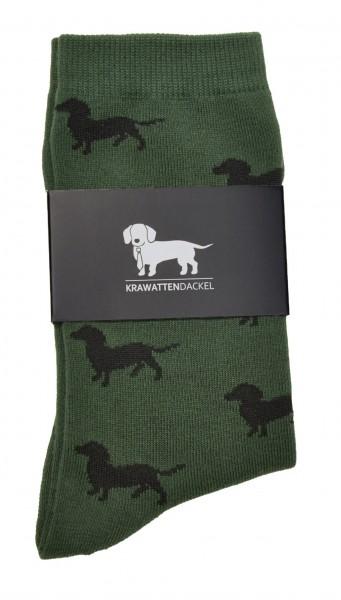 Krawattendackel Socken mit Dackel