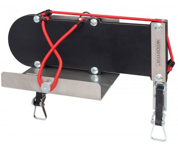 Woodyfix Motorsägenhalter mit Sappie- und Kanisterhalter WF3