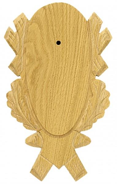 Gehörnbrettchen Rehbock Eiche geschnitzt