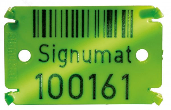 Signumat Hi-Tech Colour Type 02 Forestry Tag - two lines
