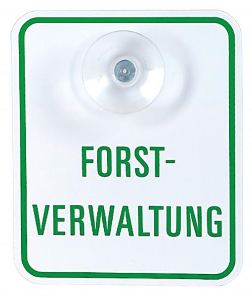 Autoschild Forstverwaltung