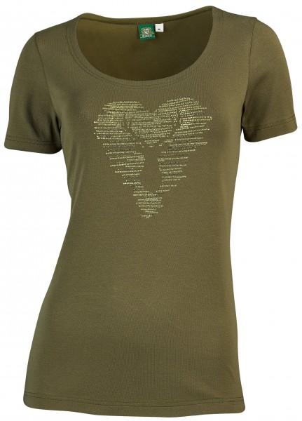 OS-Trachten Damen-T-Shirt mit Strassmotiv