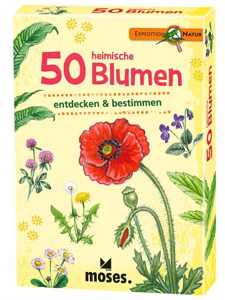 Moses Kartenspiel 50 heimische Blumen