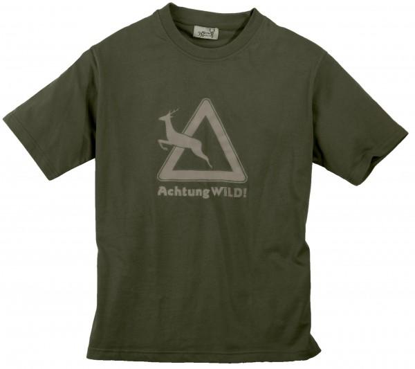Hubertus Herren-T-Shirt Achtung Wild!