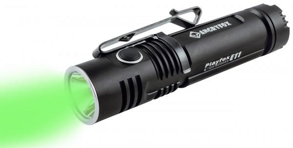 Angryfox Taschenlampe E11, Grünes Licht