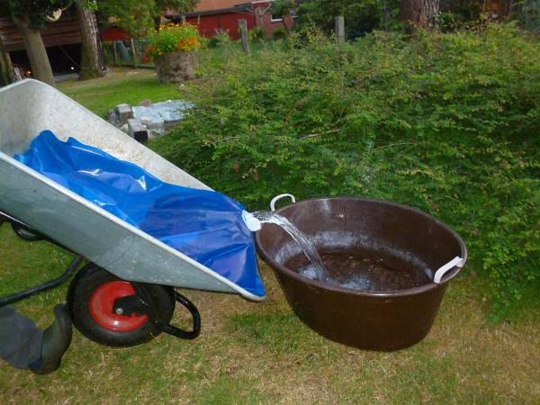 Wassersack für Schubkarren
