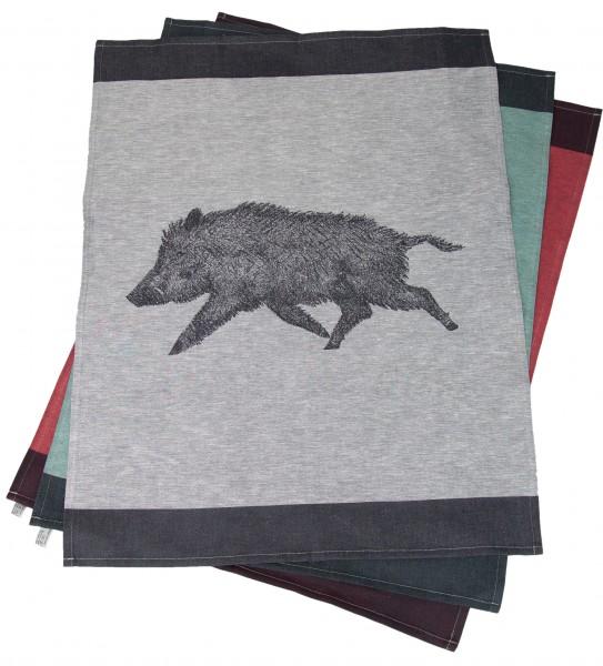 Geschirrhandtuch Wildschwein