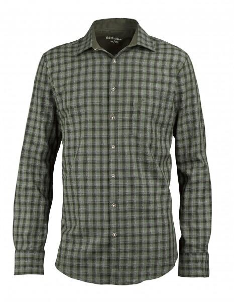 OS-Trachten Herren-Langarmhemd Slim Fit