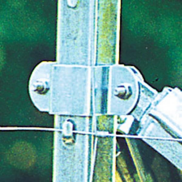 Verstrebungsset für Z-Pfahl – Schelle mit Schrauben