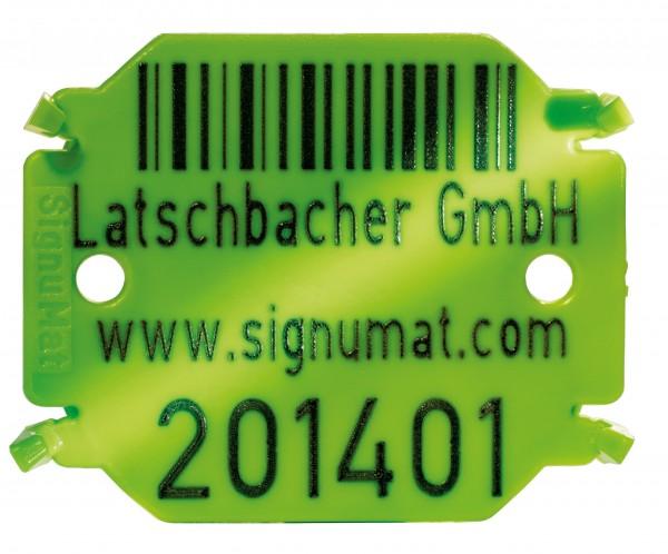 Plaquette en plastique Hightech-Colour Typ 04 - trois lignes