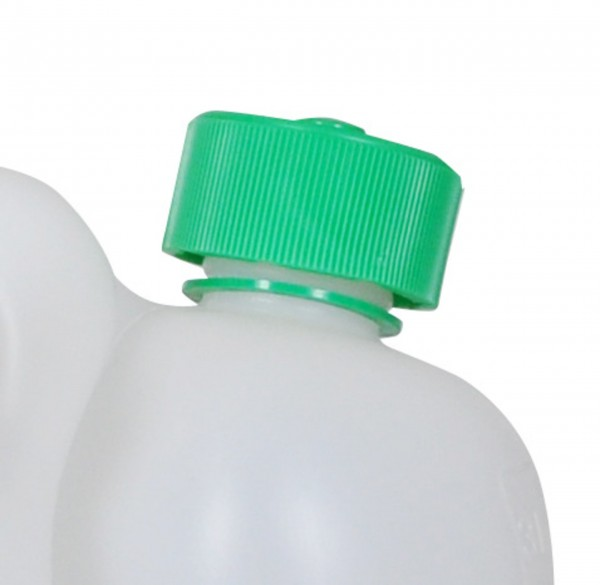 Green Child-proof Canister Cap