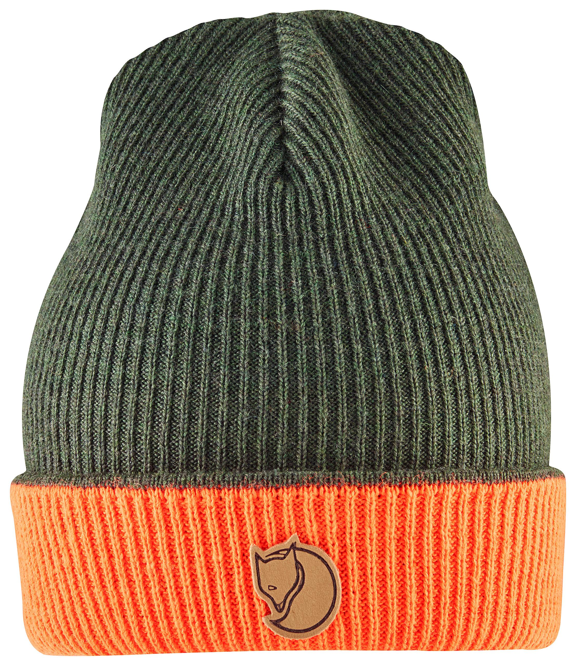 Deerhunter Cumberland Knitted reversible Beanie green orange wooly hat