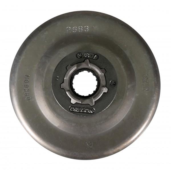 """Pignon annulaire Oregon complet avec roulement à aiguilles 3/8"""", 7 dents, taille du moyeu : standard"""