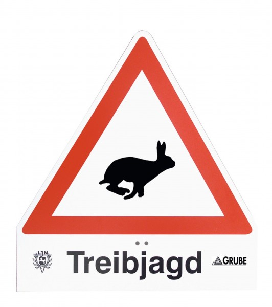 Treibjagdschild Light Hase