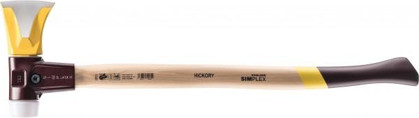 Simplex Splitting Axe with Wedge Ridges and Plastic Hammer Head
