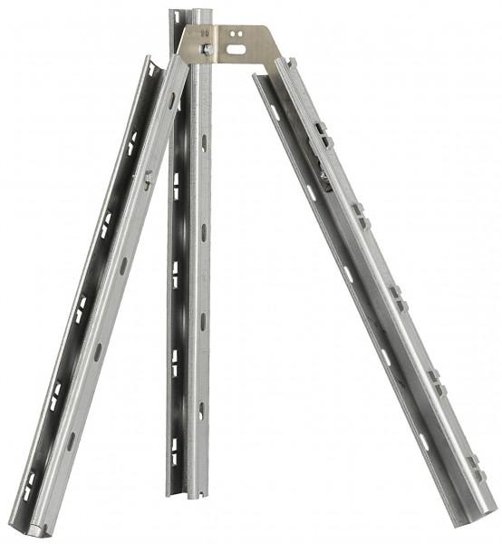 Eckverbinder doppelt, V2A Edelstahl 2,5 mm