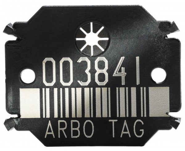 Arbo Tag Plättchen Barcode Black