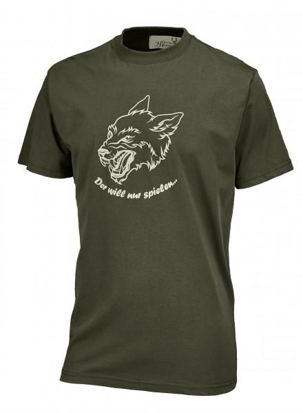 Hubertus Herren-T-Shirt Der will nur spielen...