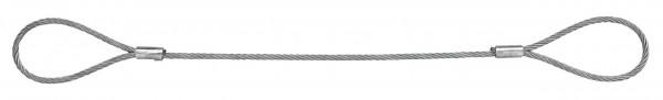 Drahtseilstroppen/Chokerseile mit Fasereinlage - Form A - Schlaufe - Schlaufe