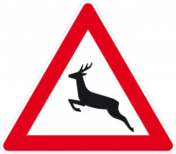 Schild Achtung Wildwechsel