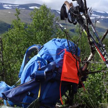 Rucksack eines Teilnehmers