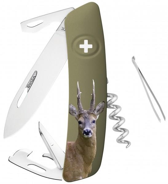 Swiza Taschenmesser D05 mit Jagdmotiv