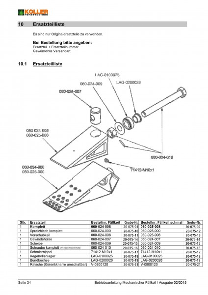 Articulated Ratchet for use with Koller's Wedge