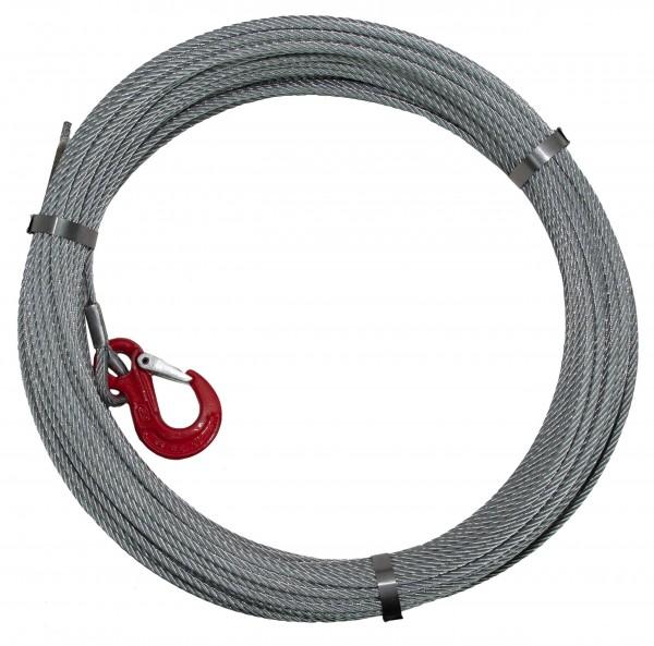 Stahlseil 6,5 mm Ø, Länge 80 m