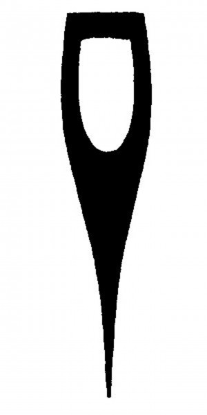 Axe Handle for Horseshoe Eye, with crowbar shaped end.