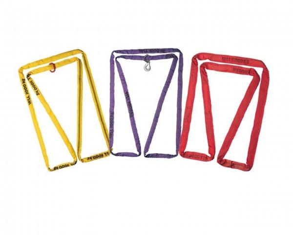 Polyester-Rundschlingen mit Stahlring