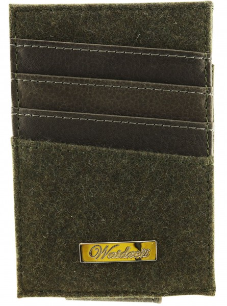 Waidzeit Geldklammer aus Loden und Leder