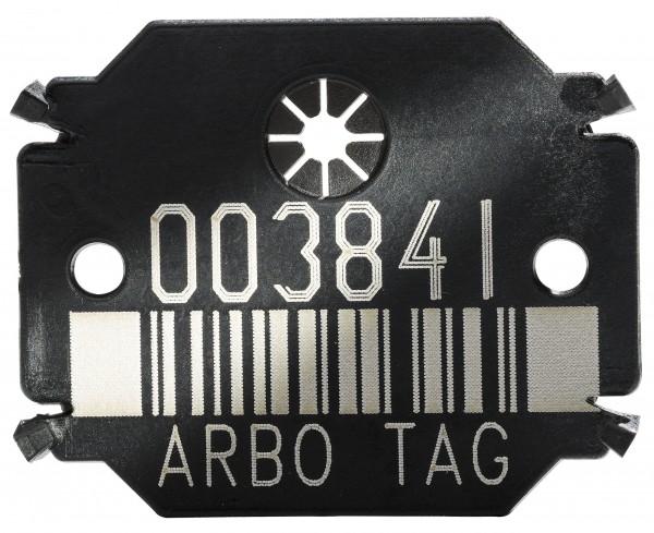 Plaquette Arbo Tag Barcode Black