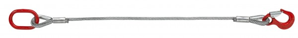 Drahtseilstroppen/Chokerseile mit Fasereinlage - Form C - SIKA-Haken - Stahlring