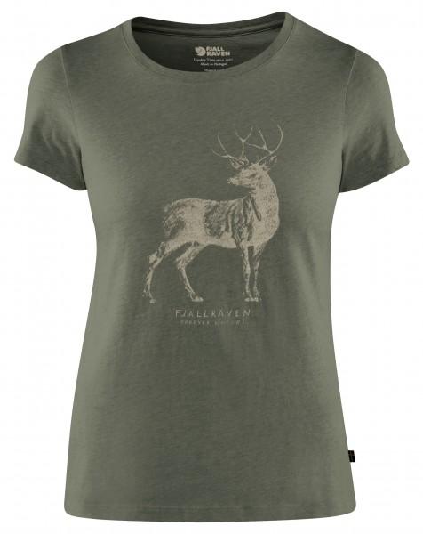 Fjällräven Damen-T-Shirt Deer Print