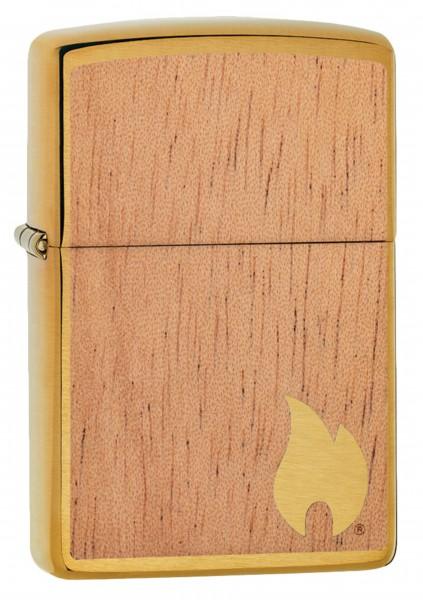Zippo Feuerzeug Woodchuck Brushed Brass