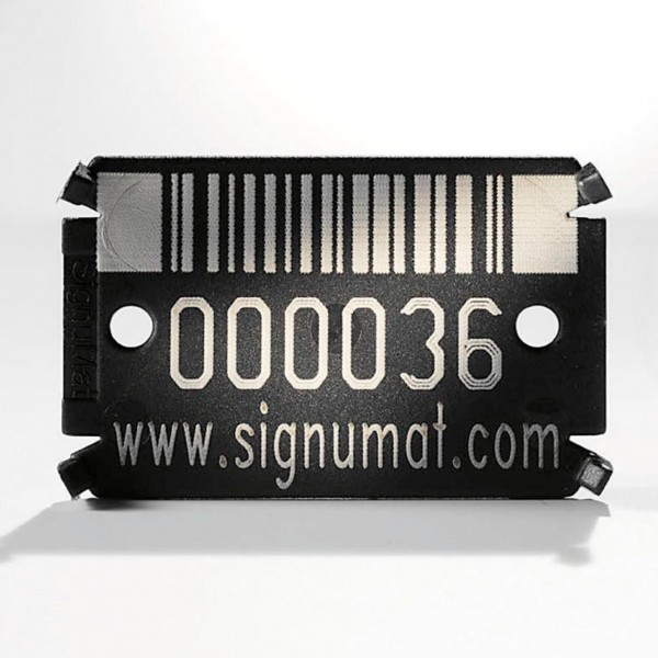 Plaquettes high-tech Barcode Black
