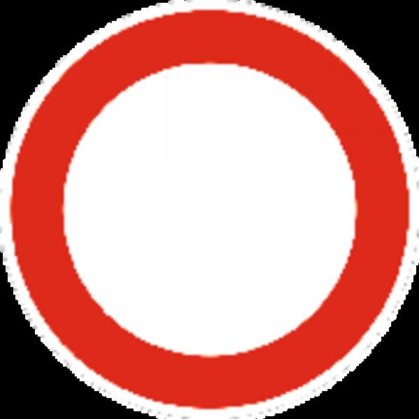 Schild Verbot für Fahrzeuge aller Art, reflektierend