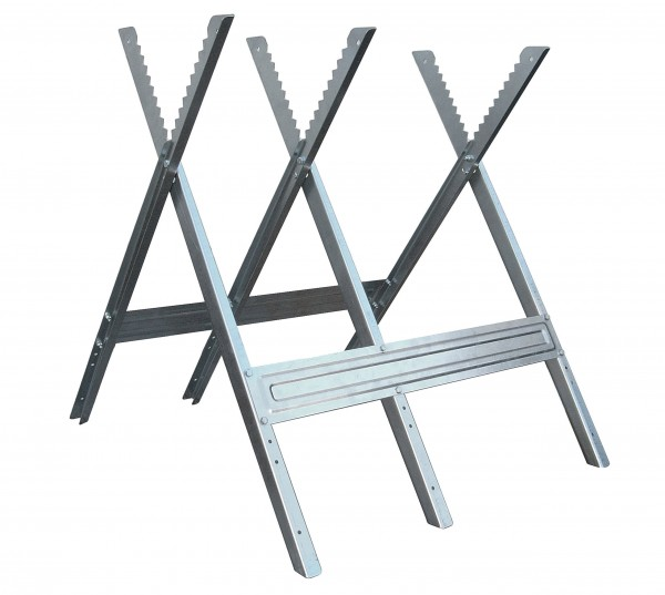 Metallsägebock aus chromatiertem Stahl
