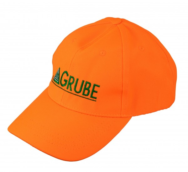 Cap orange mit GRUBE-Logo