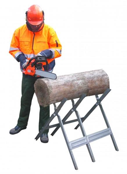 Chevalet de sciage en acier chromé