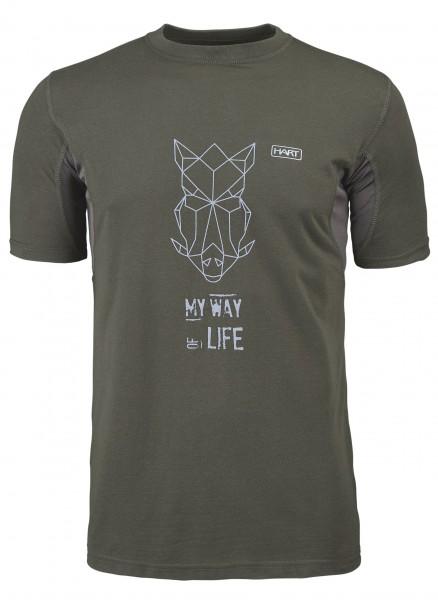Hart Herren-T-Shirt Branded Wildschwein