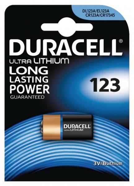 Duracell Batterien CR123, 3,0 V