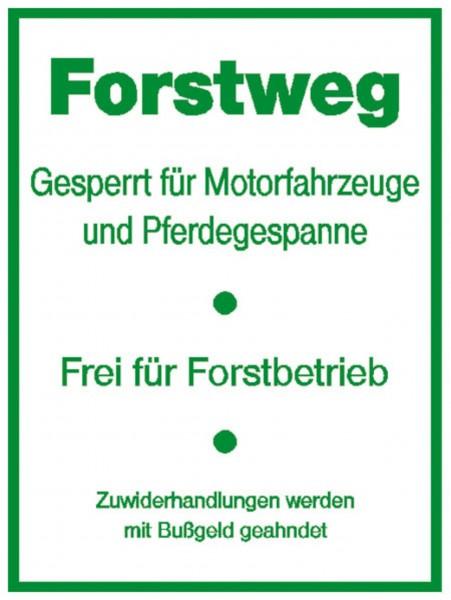 Schild Forstweg