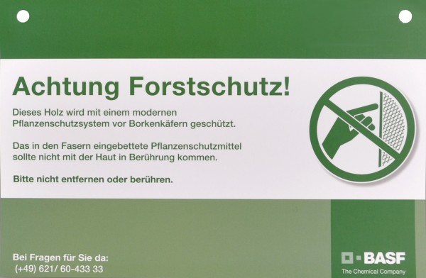 Trinet Warning Sign (German Text)