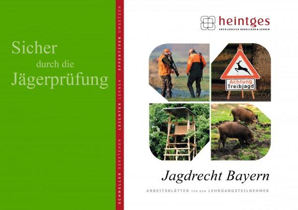 Sicher durch die Jägerprüfung - Arbeitsblätter Jagdrecht Bayern
