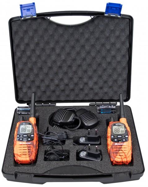 Midland G7 Pro Kofferset mit Headsets und Lautsprechermikrofonen