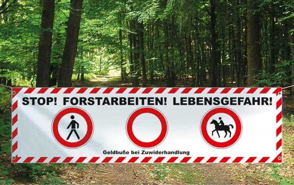 Absperrbanner Forstarbeiten Deutschland