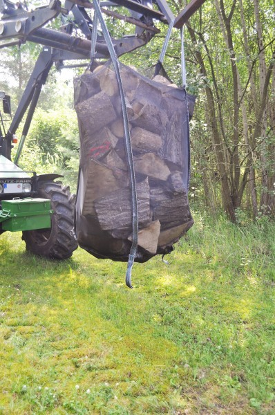 Nordforest Big-Bag mit Auslaufschürze für Brennholz