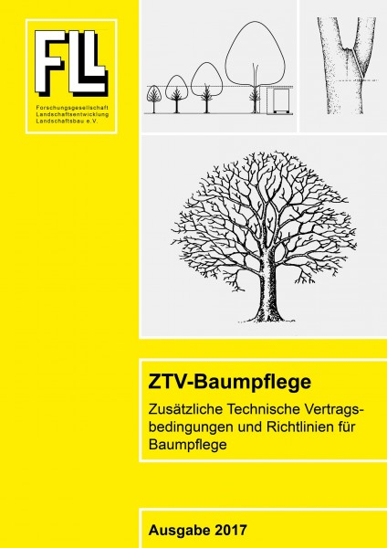 Broschüre ZTV Baumpflege 2017 (Additional technical contract conditions for tree care brochure 2017) Text in German.